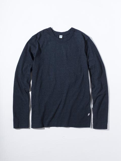 [LS5011] Indigo Jersey Crew Neck Long Sleeved T-shirt