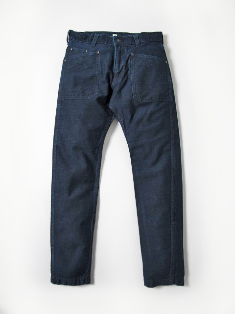 [1138] Back Satin Work Pants (Indigo)