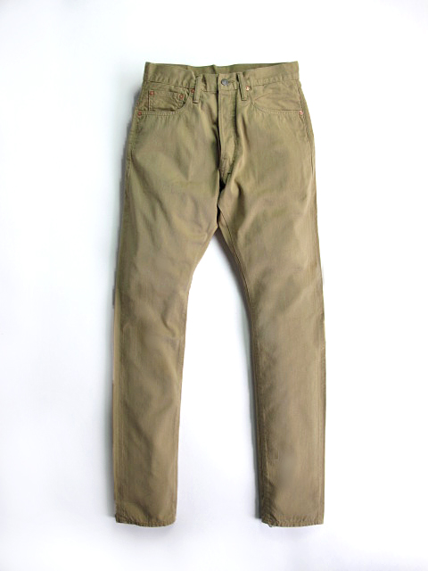 [1139] Selvedge Chino 5-pocket Pants (Beige)