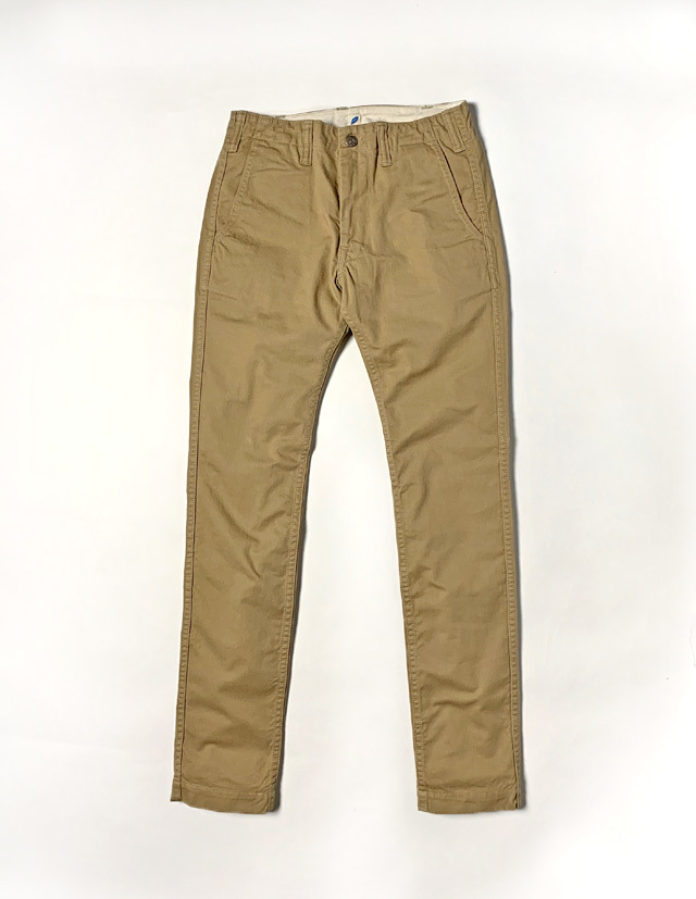 [1148] Sulfur Dyed Slub Chino Trousers (Beige)