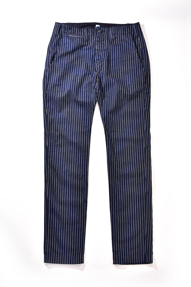 [1162 C/#1] Curved Pockets Trousers (Pinstripe)