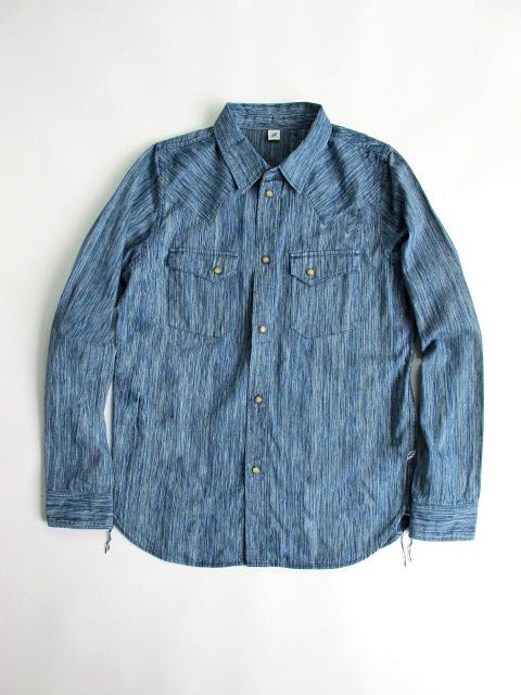 [2192] Irregular Indigo 6oz. Selvedge Denim Western Shirt