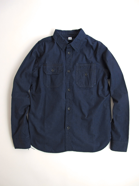 [2193] Double Indigo 5oz. Selvedge Chambray Work Shirt