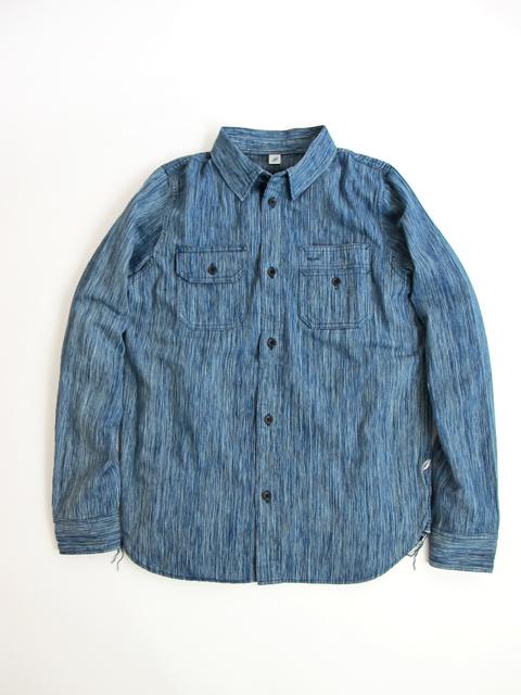 [2194] Irregular Indigo 6oz. Selvedge Denim Work Shirt