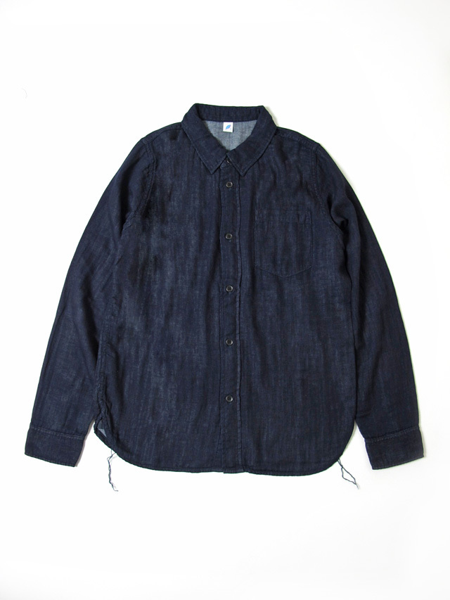 [2199-IN] Double Gauze Shirt (Indigo)