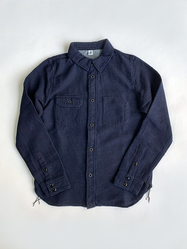 [2202 C/#1] 6oz. Gauze Denim Chinstrap Work Shirt (Indigo)