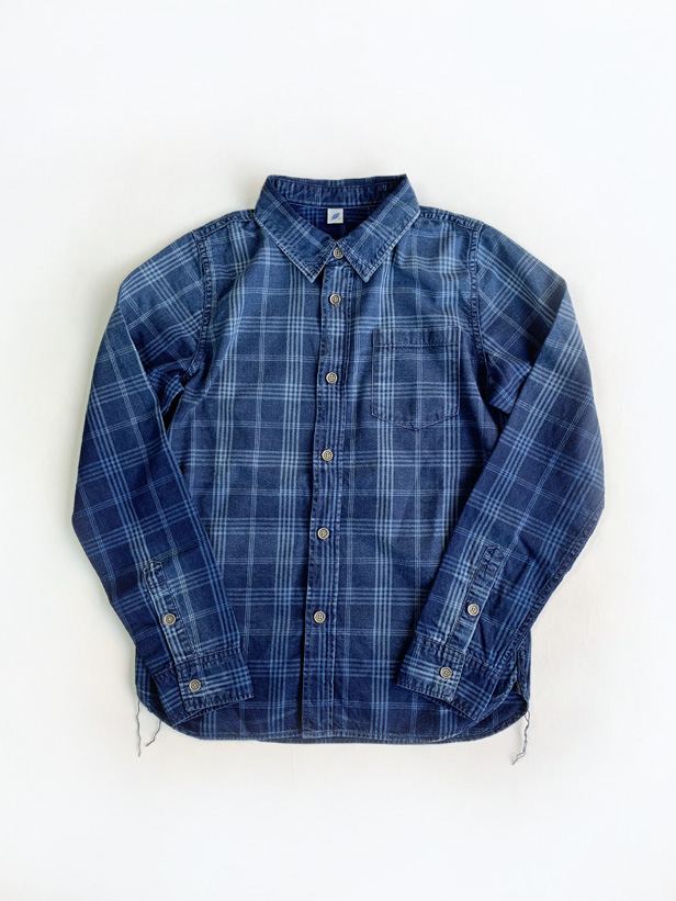 [2203 C/#2] Sunburned Indigo Check Shirt (C/#2)