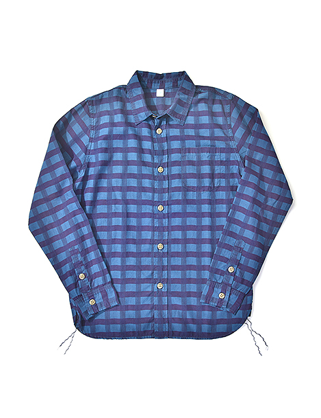 [2204] Indigo Check Shirt
