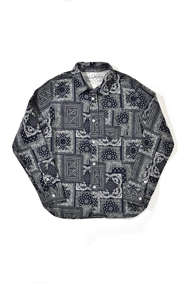 [2210] Jacquard Bandana Shirt