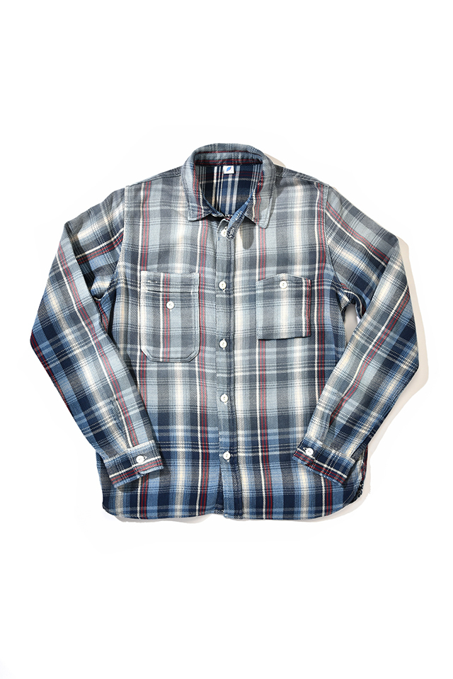 [2211-1] Indigo Check Shirt