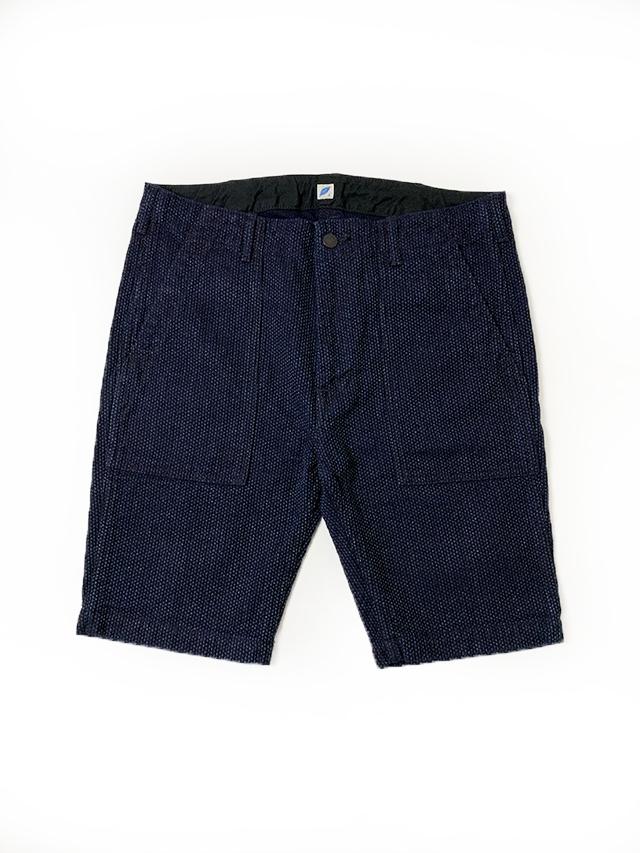 [3100] Sashiko Denim Utility Shorts