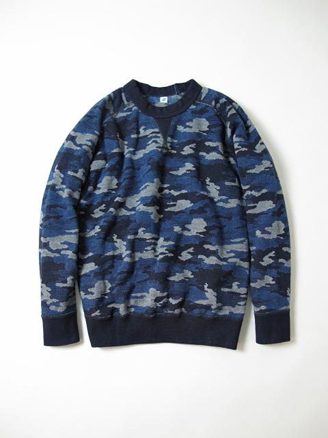 [5349] Indigo Camouflage Sweatshirt