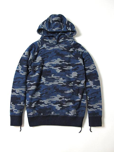 [5350] Indigo Camouflage Hoodie