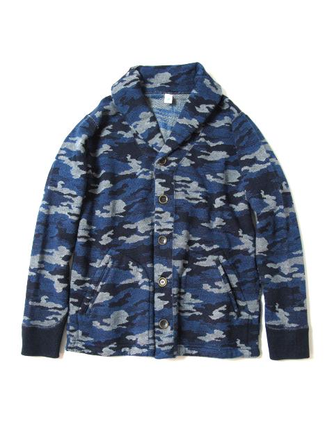 [5351] Indigo Camouflage Cardigan