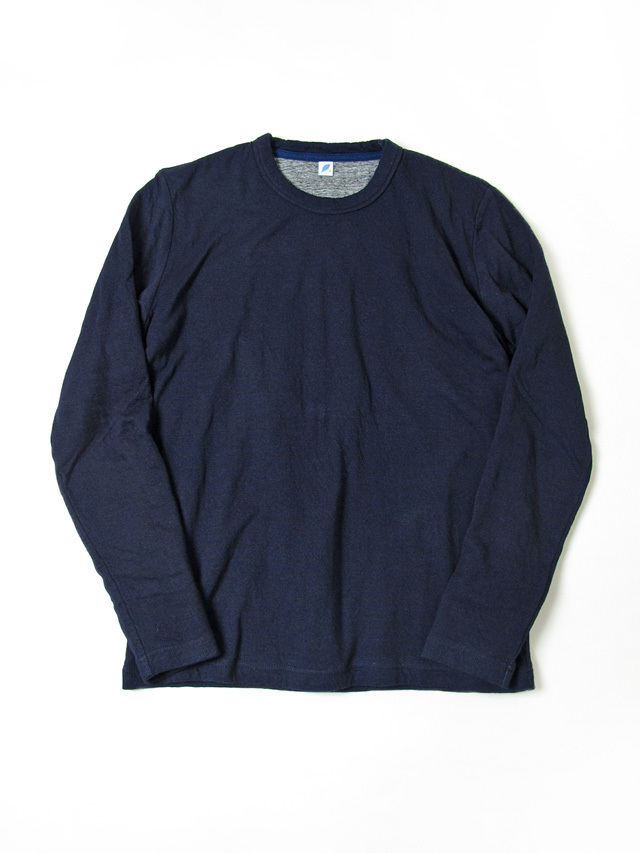 [5357] Indigo Double Faced Crewneck T-Shirt