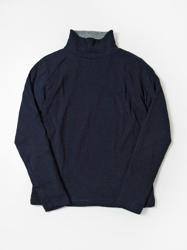 [5358] Indigo Double Faced Turtleneck T-shirt