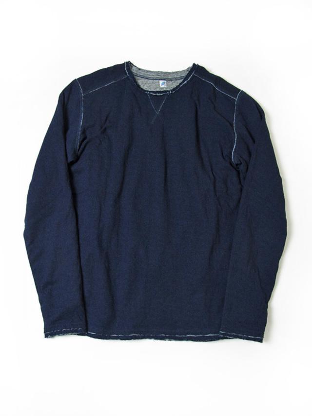 [5359] Indigo Double Faced Cut-off T-Shirt