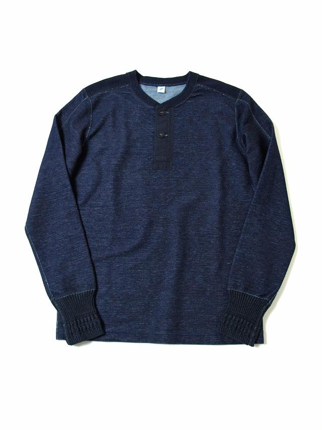 "[5363] Indigo ""Denimish"" Military Henley T-Shirt"