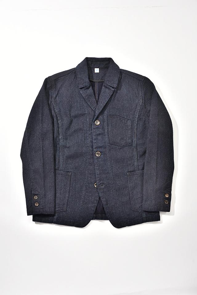 [6075] Sashiko Tailored Work Jacket (Indigo)