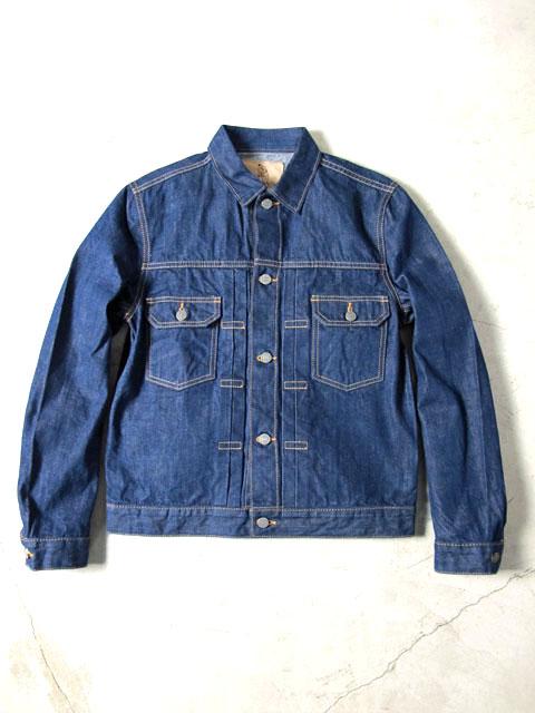 [6077] 13.5oz. Natural Indigo Hand Dyed Denim Type II Jacket