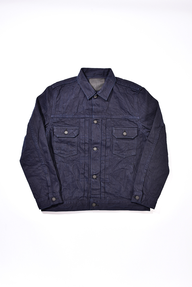 [6081] 17.5oz. Double Natural Indigo Hand Dyed Denim Type 2 Jacket