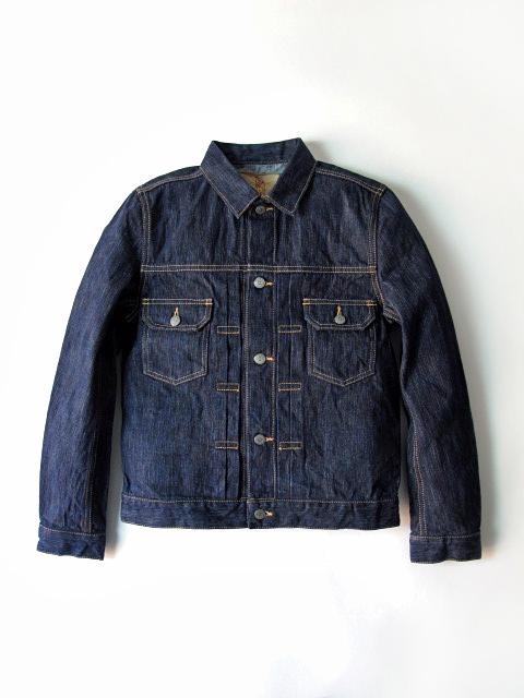[6084] 17.5oz. Natural Indigo Rain Denim Type II Jacket