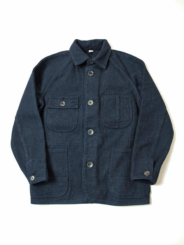 [6089] Indigo Sashiko Raglan Jacket