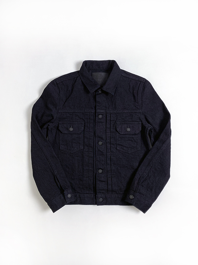 [6092-IDBK] 18oz. Indigo + Black Type 2 Jacket