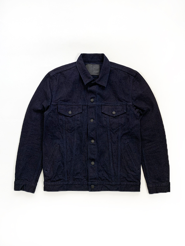 [6093-DIN] 17oz. Nep Denim Double Indigo Type 3 Jacket