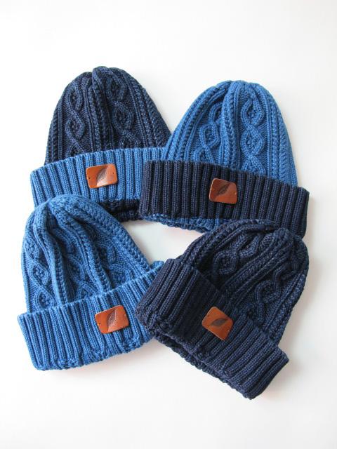 [7015] Indigo Knit Cap