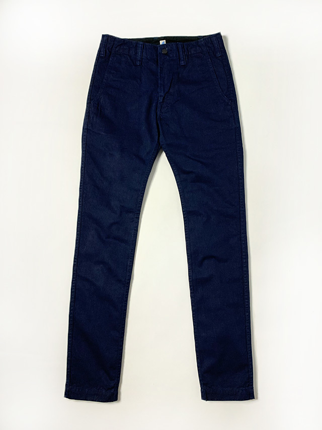 [ID-1148] Deep Indigo Slub Chino Trousers