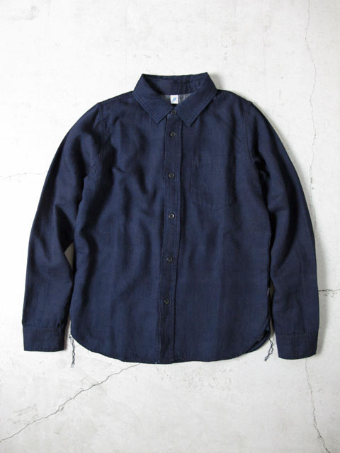 [LS-2183] Indigo Double Gauze Shirt