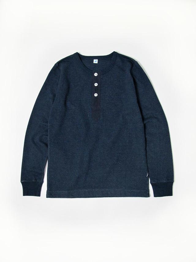 [LS-5356] Military Henley Long Sleeve Lightweight Sweatshirt