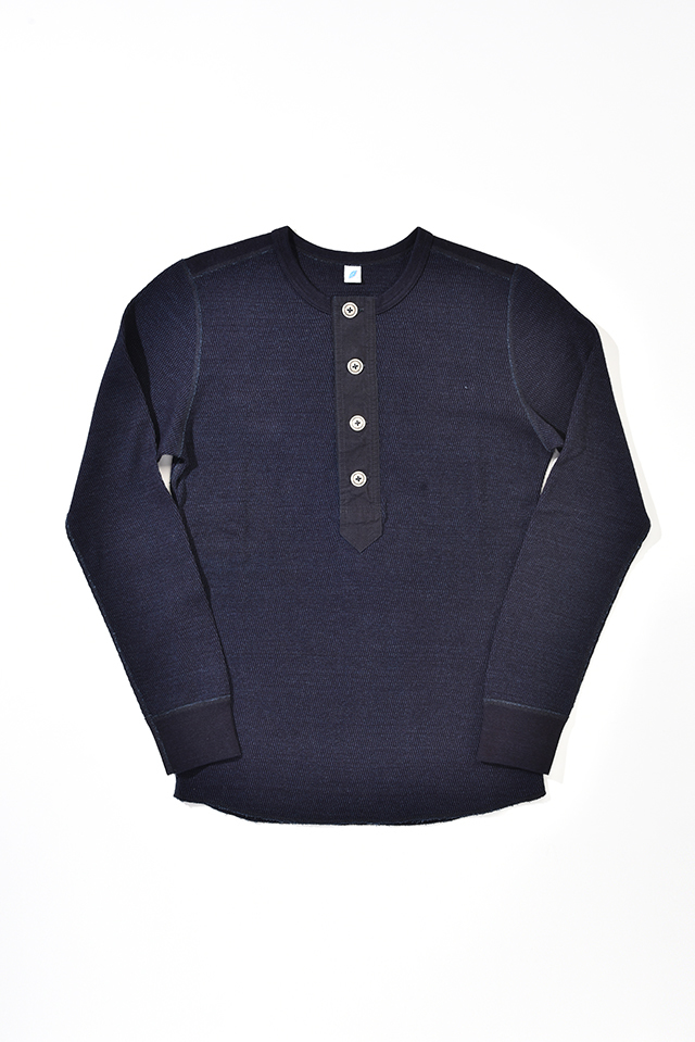 [LS-5387] Thermal Henley Pullover Long Sleeve T-shirt
