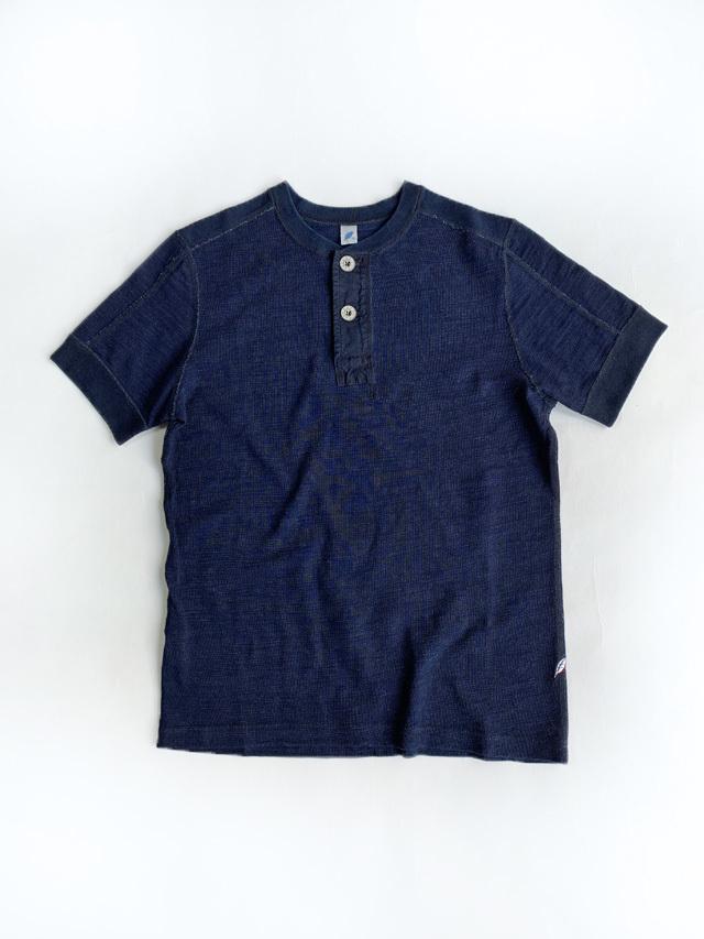 [SS-5371] Slub Jersey Short Sleeve Henley T-shirt