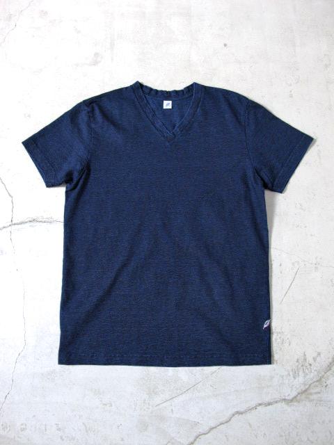 [VS5010] Indigo Jersey V-Neck T-shirt