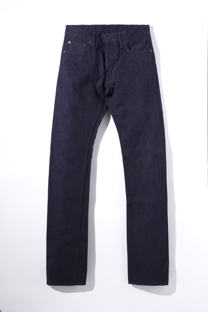 [XX-010] 14oz. Purple Face Slim Straight