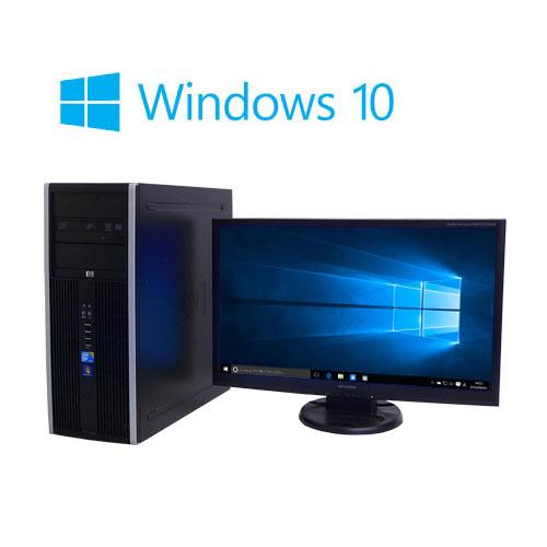 中古パソコン 大画面23型フルHD/HP8000MT/Core2Quad Q9650(3G)/大容量メモリ8GB/SSD240GB(新品)+HDD500GB/DVDマルチ/Windows10Home64bit/1002s