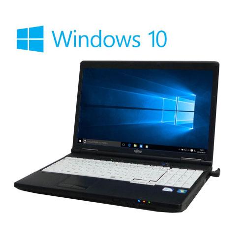 ノートパソコン Windows10 Home 64bit/LIFEBOOK A561D/富士通/15.6型/Celeron B710(1.6GB)/メモリ4GB/SSD120GB(新品)/DVD/無線LAN/1107n