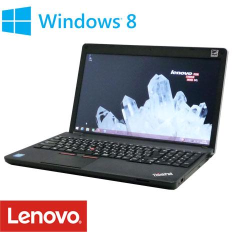 中古パソコン Windows8 64bit/Lenovo ThinkPad Edge E530c/Celeron Dualcore 1005M(1.9G)/メモリ4GB/HDD320GB/DVDRWマルチ/テンキ-あり/無線LAN/15.6型/A4/1137n