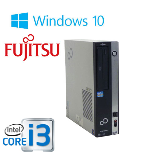 富士通 ESPRIMO D751 Core i3-2100(3.1GHz) メモリ4GB  DVD-ROM HDD250GB Windows10 Home 64Bit(正規OS MRR)/1213aS