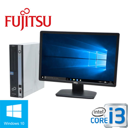 富士通 ESPRIMO D751 Core i3-2100(3.1GHz) メモリ4GB  DVD-ROM HDD250GB Windows10 Home 64Bit(正規OS MRR)/22型ワイド液晶/1275sS