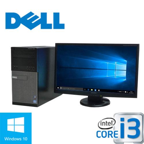 中古パソコン 正規OS Windows10 64bit/DELL 790MT/Core i3 2100(3.1G)/メモリ4GB/HDD250GB/DVD/23型ワイド液晶(フルHD)/1327s-2