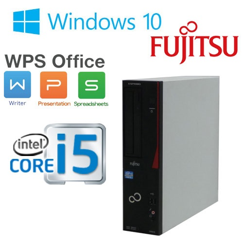中古パソコン 正規OS Windows10 64Bit /富士通 FMV D582 / Core i5-3470(3.2Ghz) /メモリ4GB /HDD250GB /DVD-ROM /KingSoft Office /1415as