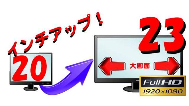 (20インチ付PC同時購入限定) 23インチFullHDにサイズアップして出荷(中古)