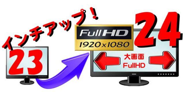 (23インチ付PC同時購入限定) 24インチFullHDにサイズアップして出荷(中古)