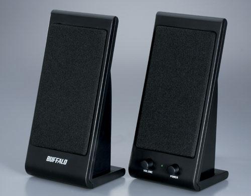 (パソコン同時購入なら送料無料)(新品)Buffalo製スピーカー BSSP01UBK
