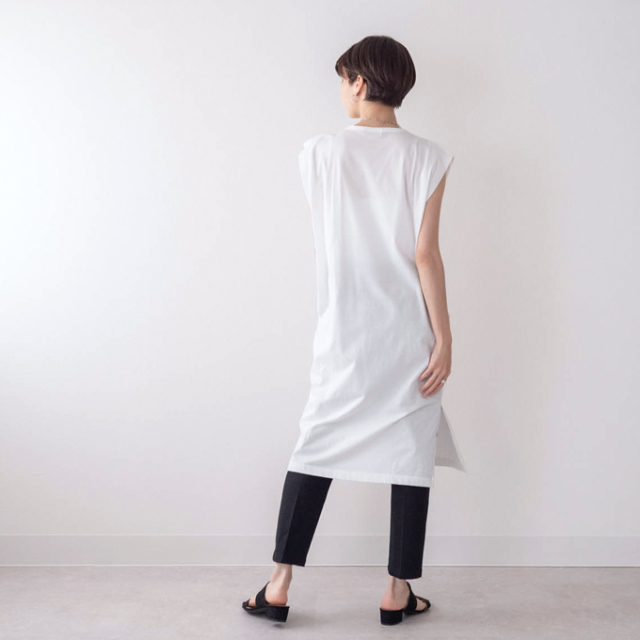 マタニティ 授乳服 夏 ワンピース ノースリーブ 涼しい ティーシャツ マキシ丈 ロング丈 Pearls パールズ