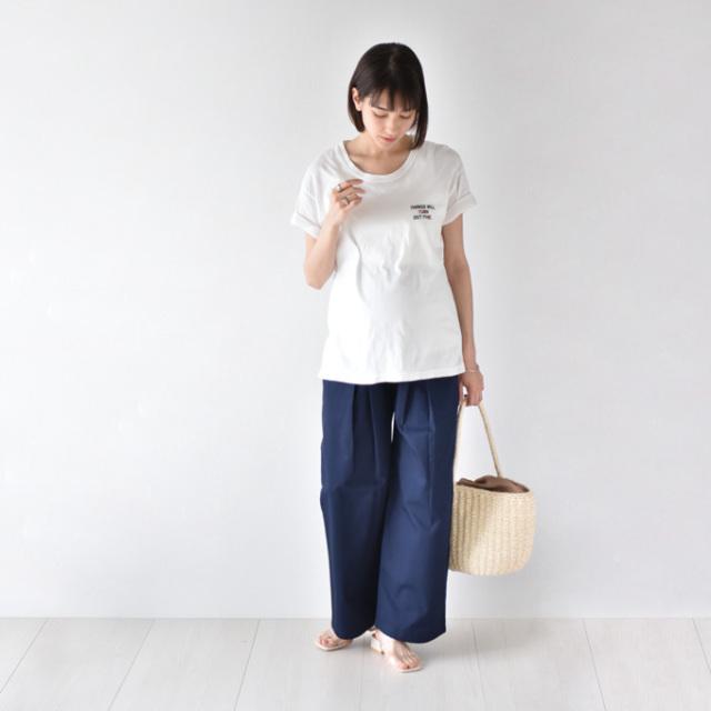 Pearls パールズ マタニティ パンツ ワイド  チノパン チノ 日本製