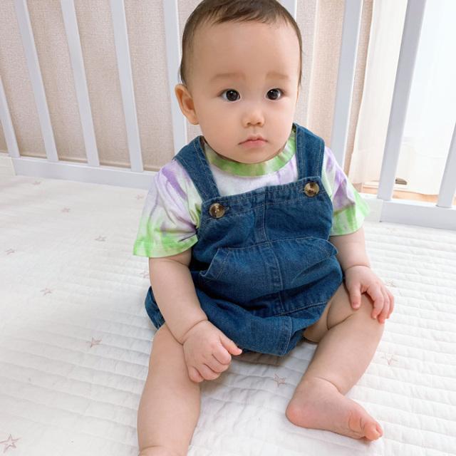 ベビー ベビー服 デニム カバーオール サロペット 夏 Pearls パールズ